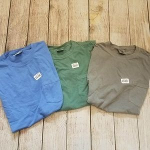 Comfort Colors Lot of 3 Pocket Tees (In. M)